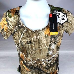 UA womens Threadborne Camo Shirt